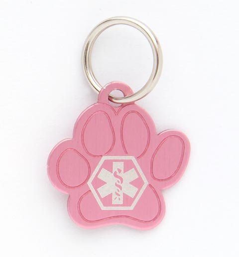Pet Medical ID Tag Small (Pink)
