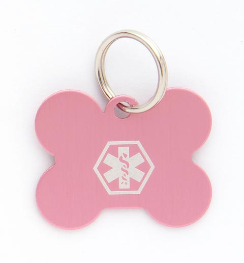 Pet Medical ID Tag Medium (Pink)