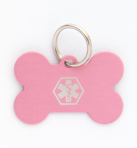 Pet Medical ID Tag Large (Pink)