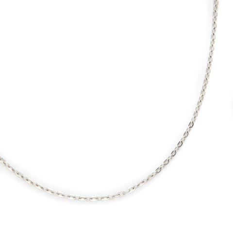 Stainless Steel Flat Oval Replacement Necklace