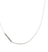 "Flat Oval Replacement Necklace. 20"" stainless chain with LH logo bar. Complements any Lauren's Hope medical ID pendants"