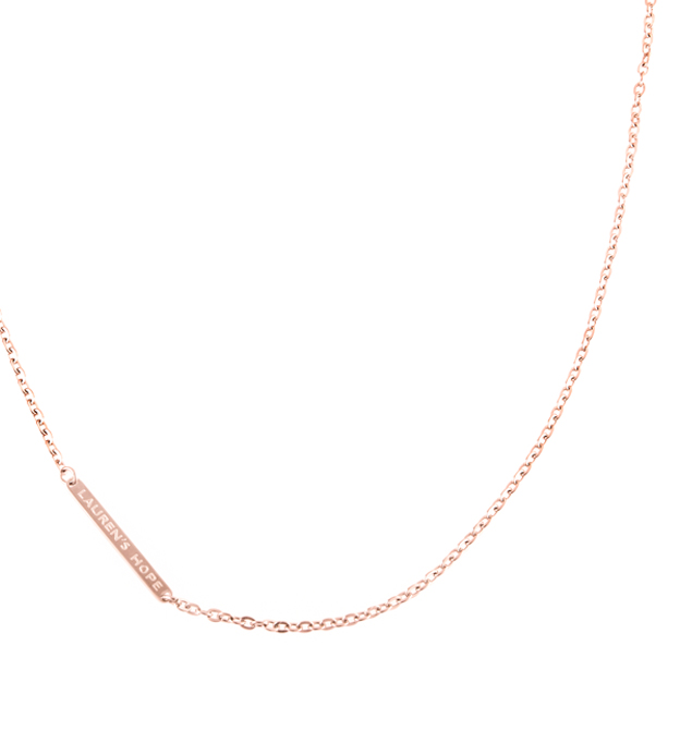 Rose gold tone flat oval necklace chain