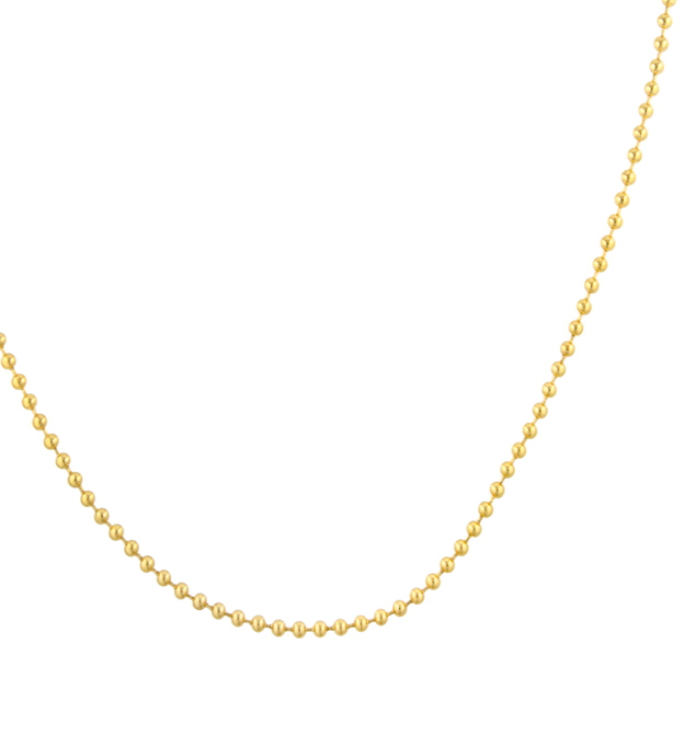 Gold Tone Ball Chain Replacement Necklace