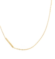 Gold Tone Flat Oval Replacement Necklace. 20-inch flat oval gold tone plated stainless chain with Lauren's Hope logo bar