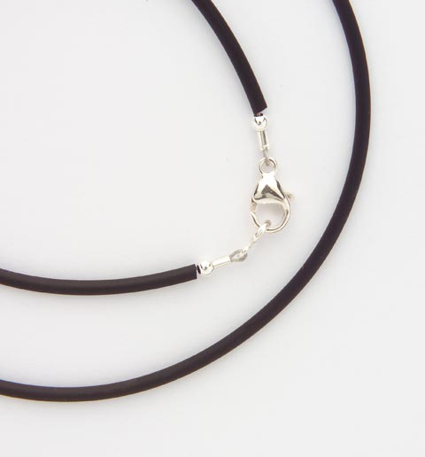 "The Replacement Black Tube Necklace is an 18"" black tube necklace with stainless steel clasps."
