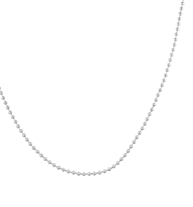 "The Replacement Ball Chain Necklace is a silver-tone stainless steel ball chain that comes in  4"", 18"", and 24"" lengths"