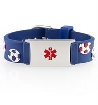Soccer Ball Medical ID Band