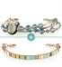 Sea Breeze Med ID Bundle with 3-strand blue and green beaded Laguna Medical ID Bracelet and 1-strand Echo Med ID Band