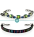 Good Vibes Med ID Bundle | includes leather band with rainbow stripes and stretch beaded color-changing mood beads bracelet