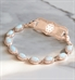 Opal Medical ID Bracelet in Rose Gold. 1-strand bracelet, oval-shaped opals, cubic zirconia accents, lobster clasps each end