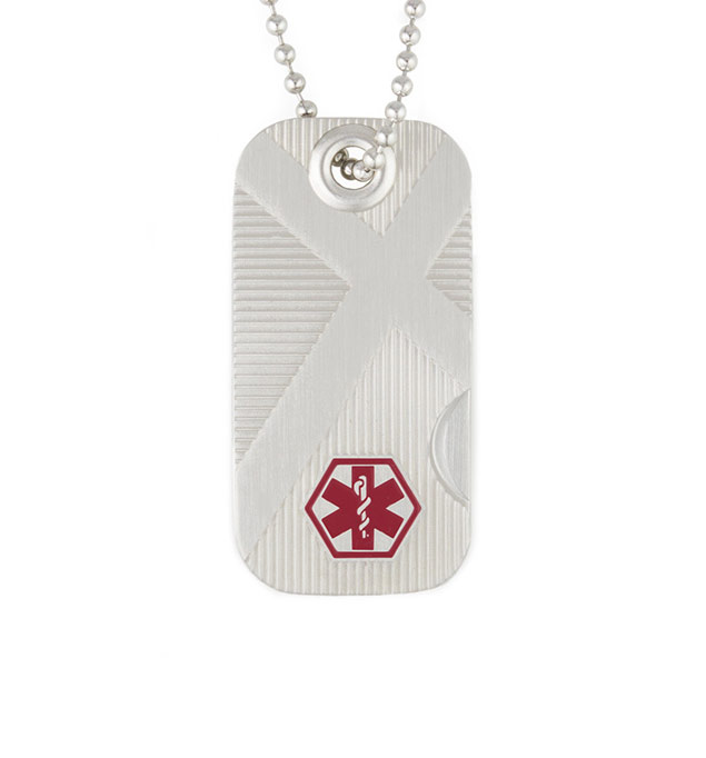 Swiss Army Cross Medical ID Dog Tag