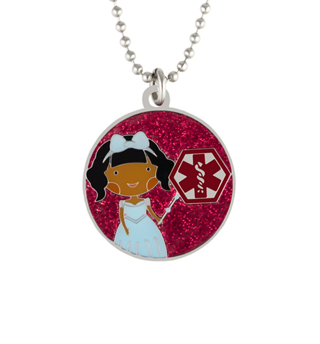 Princess Rose Medical ID Necklace