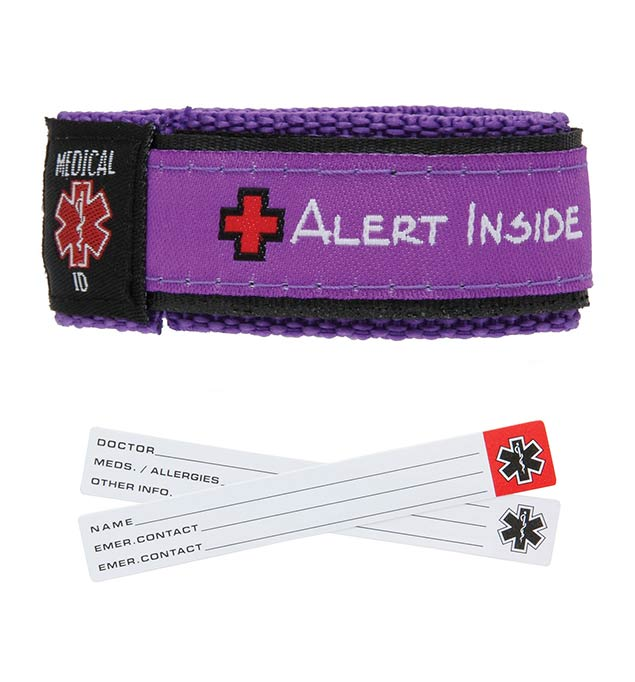 Purple Adjustable Medical ID Bracelet