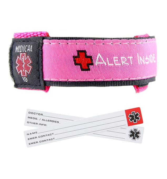 Raspberry Adjustable Medical ID Sport Bracelet