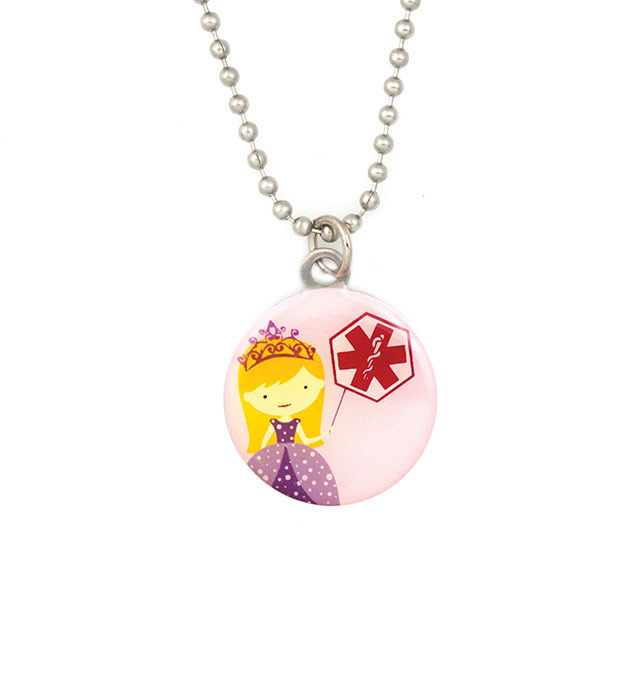 Blonde Princess Medical ID Necklace