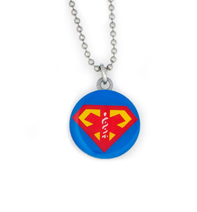 Super medical alert necklace laurens hope super stainless steel medical alert necklace for kids mozeypictures Images