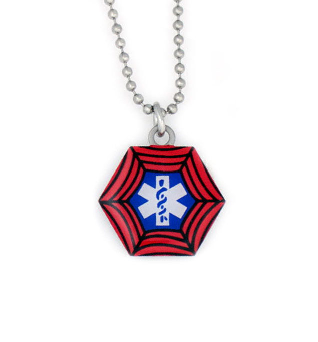 Spidey Stainless Steel Medical Alert Necklace For Kids