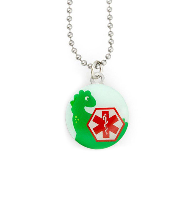 Dinosaur Medical ID Pendant
