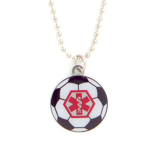Soccer Ball Medical ID Necklace