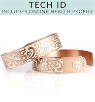 Rose Gold Tone Filigree Tech Med ID Cuff