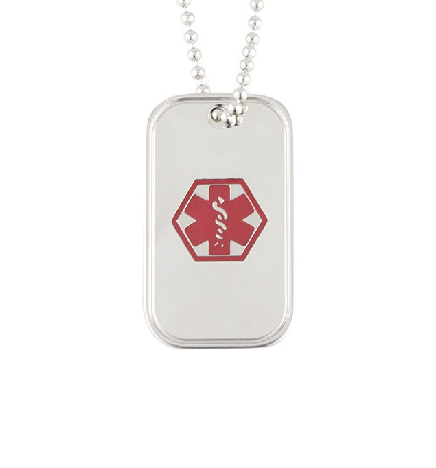 Medical Alert Dog Tag with Chain