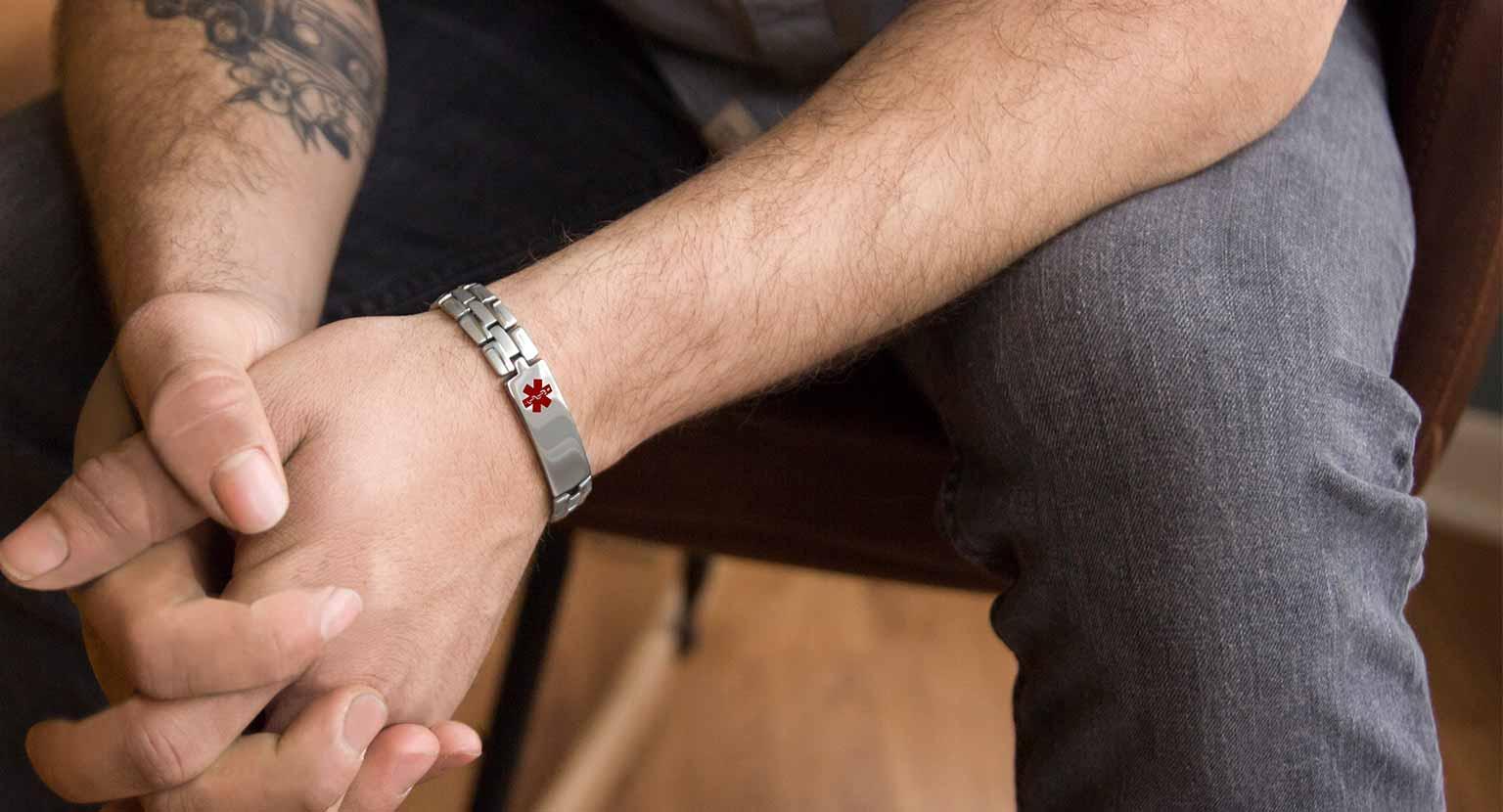 Men's Medical ID Bracelets