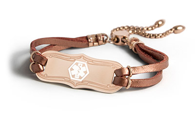 Shop Rose Gold Medical ID Bracelets