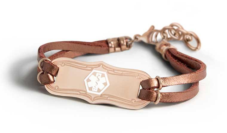 Shop Rose Gold Medical ID Bracelets