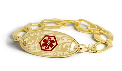 Shop Gold Medical ID Bracelets