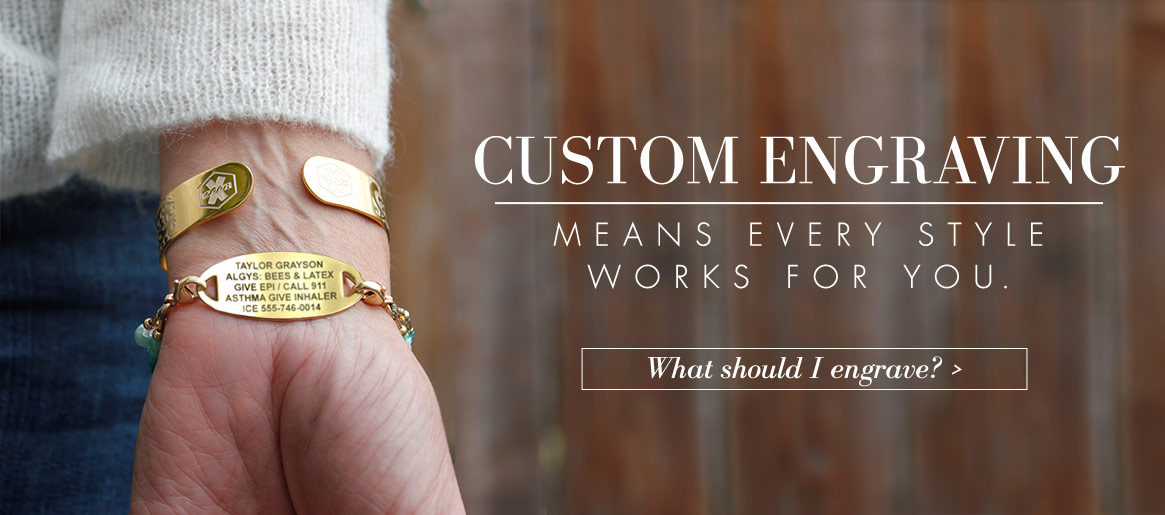 Custom Engraved Medical ID Jewelry | Lauren's Hope