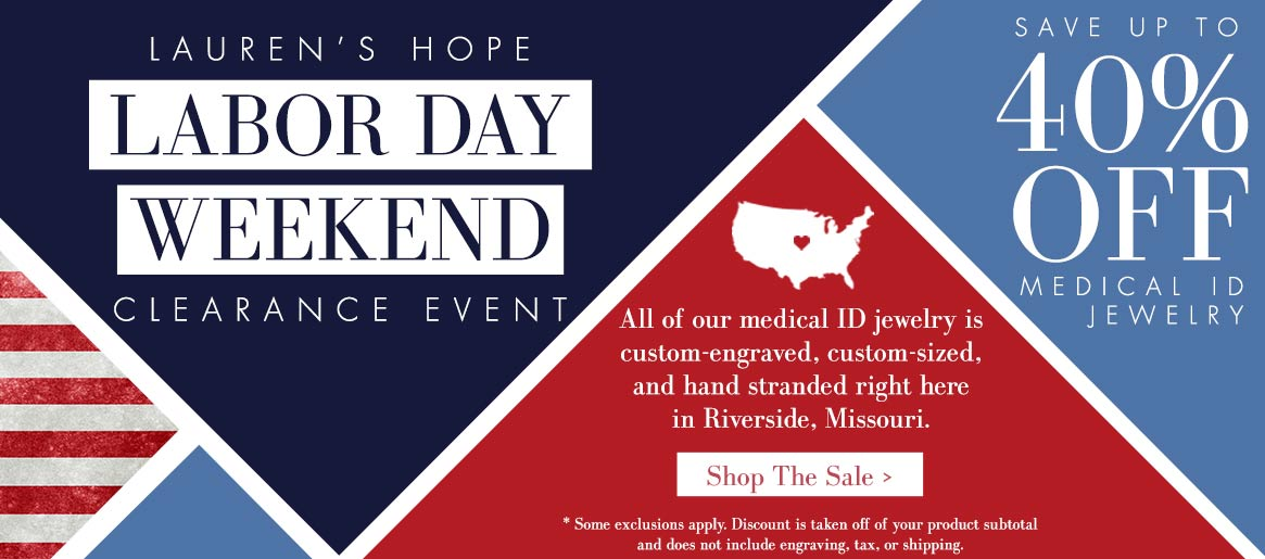 Labor Day Clearance Sale   Lauren's Hope