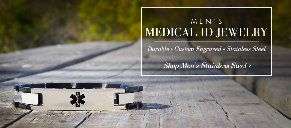 Men's Medical ID Jewelry | Lauren's Hope