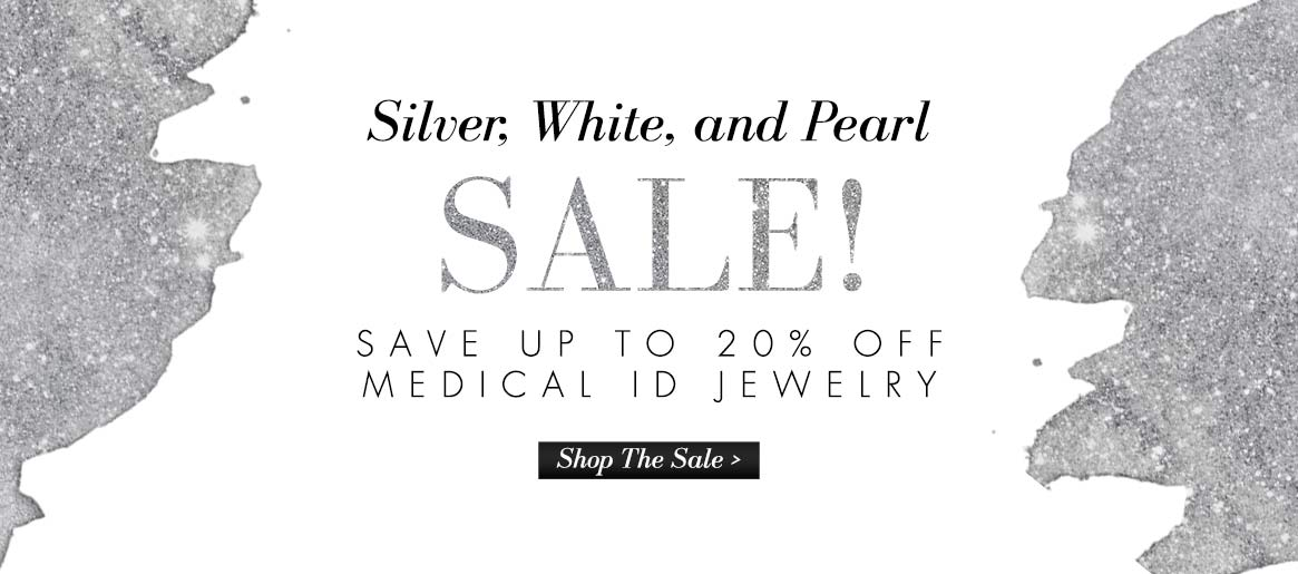 Silver, White, and Pearl Medical ID Jewelry Sale | Lauren's Hope