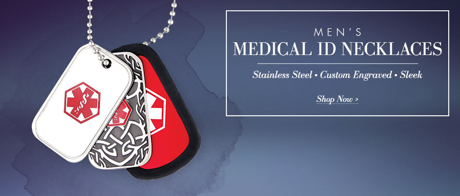 Men's Dog Tag Medical ID Necklaces