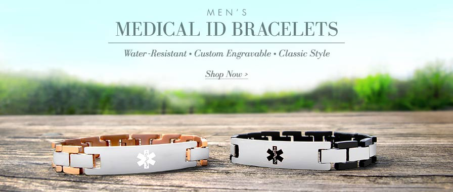 Men's Medical ID Bracelets