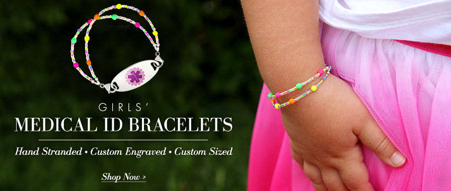 Girls' Medical ID Bracelets
