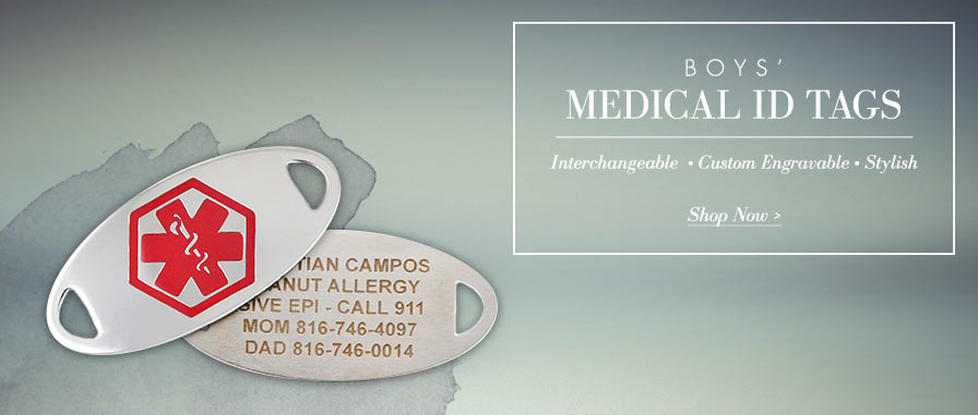 Boys' Medical ID Tags