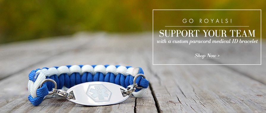 Custom Paracord Medical ID Bracelets | Lauren's Hope